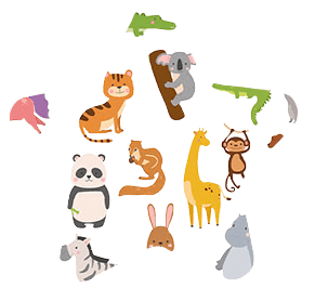 Grafiki przedstawiające zwierzęta